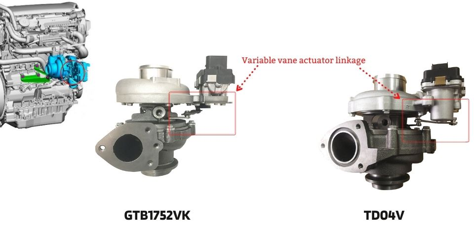 Freelander 2 turbo actuator linkage