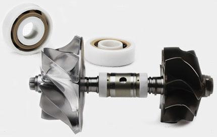 Full ceramic ball bearing turbocharger
