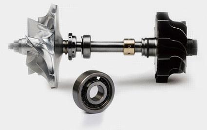 Single ball bearing turbocharger