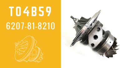 T04B59 6207-81-8210 Turbocharger CHRA Cartridge